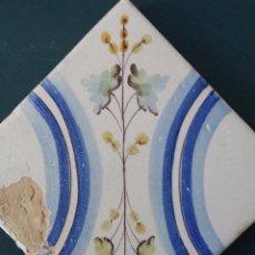Antigüedades: AZULEJO VALENCIANO SIGLO XIX - DE COLECCIÓN. Lote 103301927