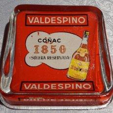 Antigüedades: DESPOJADOR ANTIGUO EN CRISTAL DE COÑAC VALDESPINO . Lote 103302675