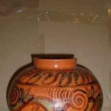 Antigüedades: CERAMICA - MARIAN BURGUÈS I SALA SABADELL 1851 JARRON PINTADO ORIGINAL NO SERIADO CON EL TAMPON DEL. Lote 103307807