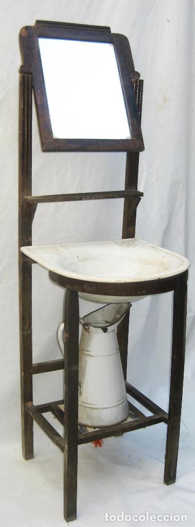 Mueble ba o antiguo habitacion con pila porcela comprar muebles auxiliares antiguos en - Muebles bano antiguos ...
