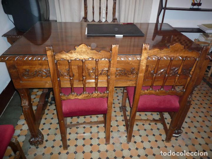 DESPACHO COMPLETO.ARMARIO-MESA-4 SILLAS- 1 SILLON (Antigüedades - Muebles Antiguos - Mesas de Despacho Antiguos)