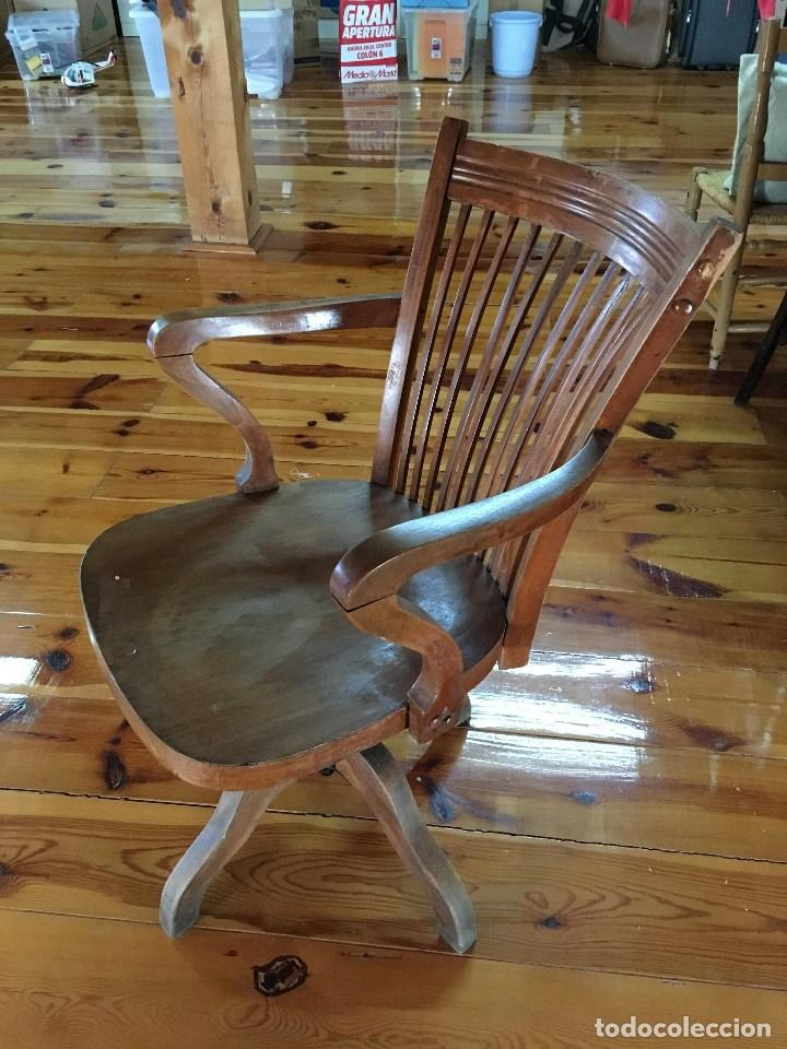 silla de madera giratoria y reclinable - Comprar Sillas Antiguas en ...