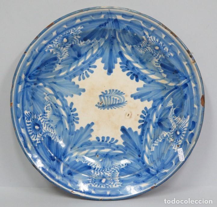 ANTIGUO PLATO DE MANISES O RIBESALBES. FIRMADO. SIGLO XIX (Antigüedades - Porcelanas y Cerámicas - Manises)