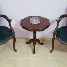 Antigüedades: PAREJA SILLÓN DE ÉPOCA. Lote 103347791