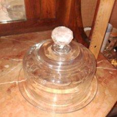 Antigüedades: QUESERA DE CRITAL ANTIGUA. Lote 103354479