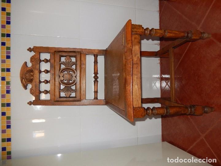 SILLAS DE MADERA TALLADA (Antigüedades - Muebles Antiguos - Sillas Antiguas)