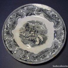 Antigüedades: PLATO PORCELANA DE CARTAGENA XIX ( FAB. LA AMISTAD ) . Lote 103391439