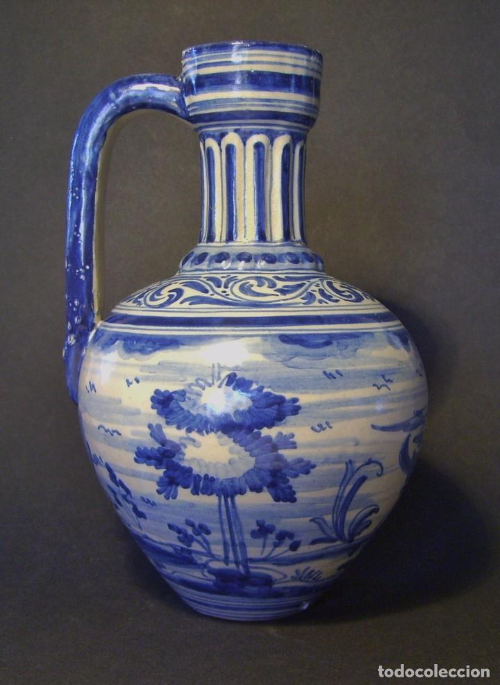 JARRA CERÁMICA DE TALALAVERA XIX ( JUAN RUIZ DE LUNA ) (Antigüedades - Porcelanas y Cerámicas - Talavera)