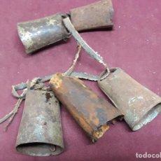 Antigüedades: LOTE 5 CENCERROS... . Lote 103407475