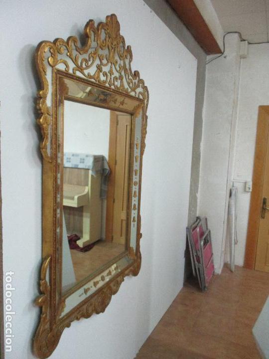 Antigüedades: Espejo Veneciano - Madera Tallada y Dorada - Composición con Espejos - Principios S. XX - Foto 6 - 103412523