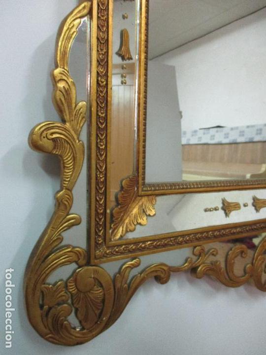 Antigüedades: Espejo Veneciano - Madera Tallada y Dorada - Composición con Espejos - Principios S. XX - Foto 7 - 103412523