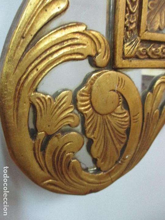 Antigüedades: Espejo Veneciano - Madera Tallada y Dorada - Composición con Espejos - Principios S. XX - Foto 8 - 103412523