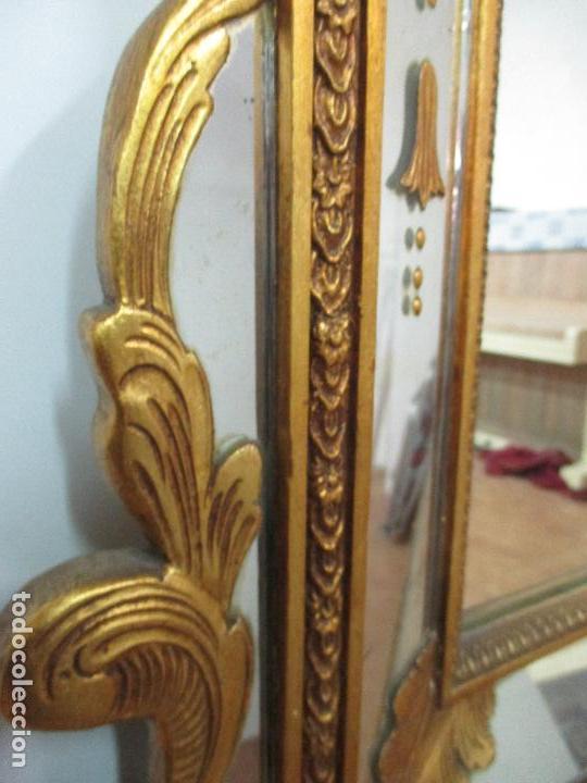 Antigüedades: Espejo Veneciano - Madera Tallada y Dorada - Composición con Espejos - Principios S. XX - Foto 9 - 103412523