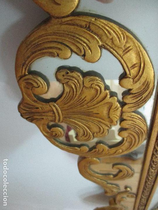 Antigüedades: Espejo Veneciano - Madera Tallada y Dorada - Composición con Espejos - Principios S. XX - Foto 11 - 103412523