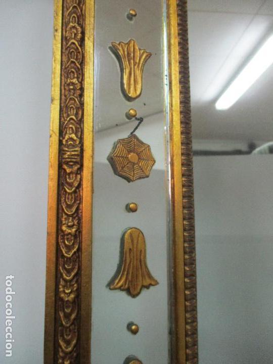 Antigüedades: Espejo Veneciano - Madera Tallada y Dorada - Composición con Espejos - Principios S. XX - Foto 14 - 103412523