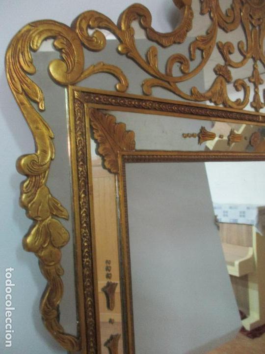 Antigüedades: Espejo Veneciano - Madera Tallada y Dorada - Composición con Espejos - Principios S. XX - Foto 15 - 103412523