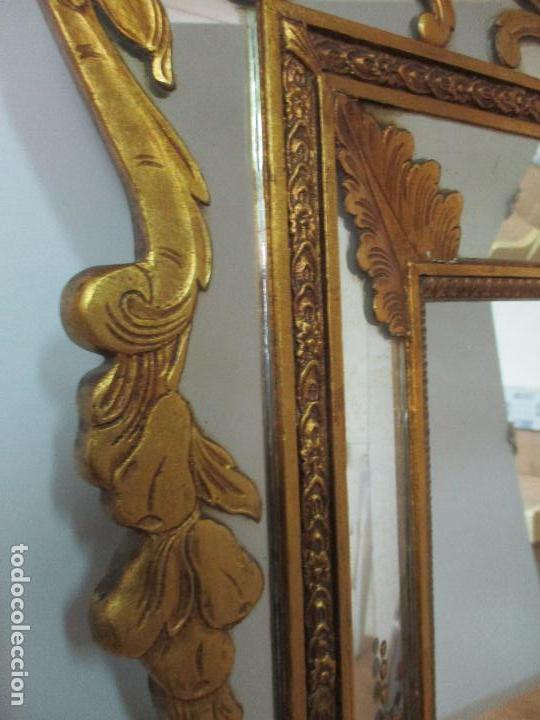 Antigüedades: Espejo Veneciano - Madera Tallada y Dorada - Composición con Espejos - Principios S. XX - Foto 16 - 103412523
