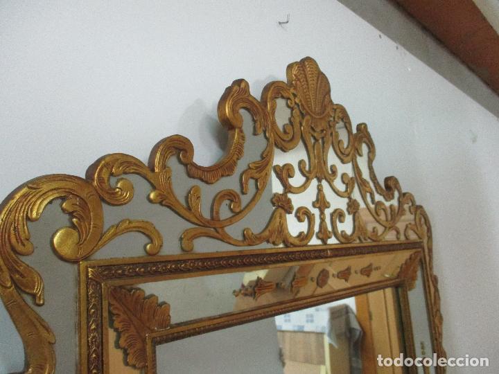 Antigüedades: Espejo Veneciano - Madera Tallada y Dorada - Composición con Espejos - Principios S. XX - Foto 18 - 103412523