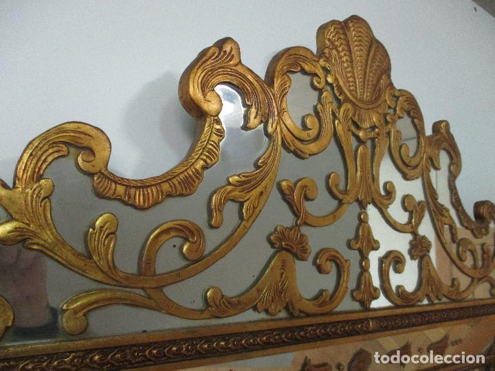 Antigüedades: Espejo Veneciano - Madera Tallada y Dorada - Composición con Espejos - Principios S. XX - Foto 19 - 103412523