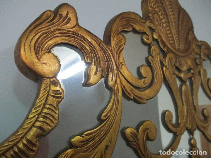 Antigüedades: Espejo Veneciano - Madera Tallada y Dorada - Composición con Espejos - Principios S. XX - Foto 20 - 103412523