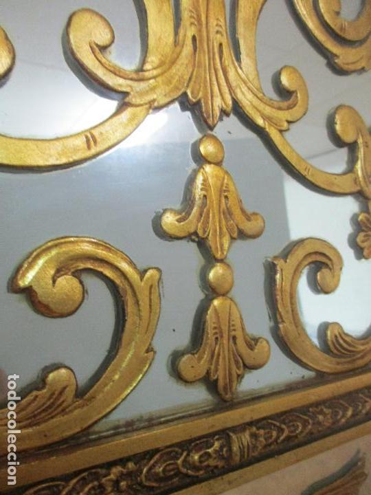 Antigüedades: Espejo Veneciano - Madera Tallada y Dorada - Composición con Espejos - Principios S. XX - Foto 22 - 103412523