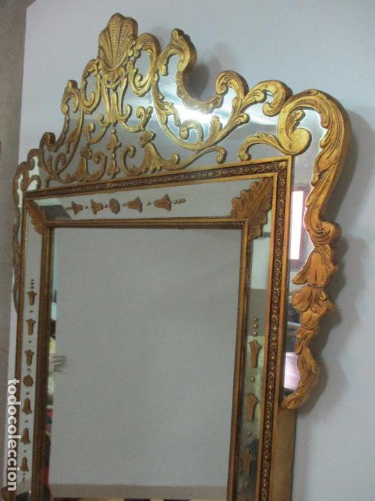 Antigüedades: Espejo Veneciano - Madera Tallada y Dorada - Composición con Espejos - Principios S. XX - Foto 23 - 103412523
