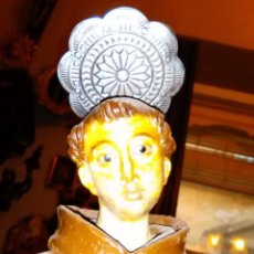Antigüedades: TORTA CORONA RESPLANDOR AUREOLA NAPOLITANA IDEAL FIGURAS DE BELEN SANTO VIRGEN NIÑO JESUS METAL 6 CM. Lote 179330886