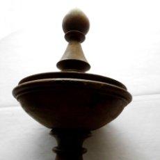 Antigüedades: POMO CENTRAL PARA CAMA ISABELINA O ESTILO SIMILAR. Lote 103423535
