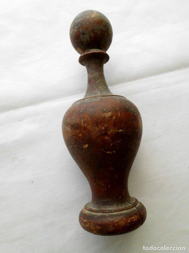 Antigüedades: Pomo alargado para cama - Foto 3 - 103425051