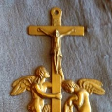 Antigüedades: BENDITERA DE BRONCE. Lote 103425975