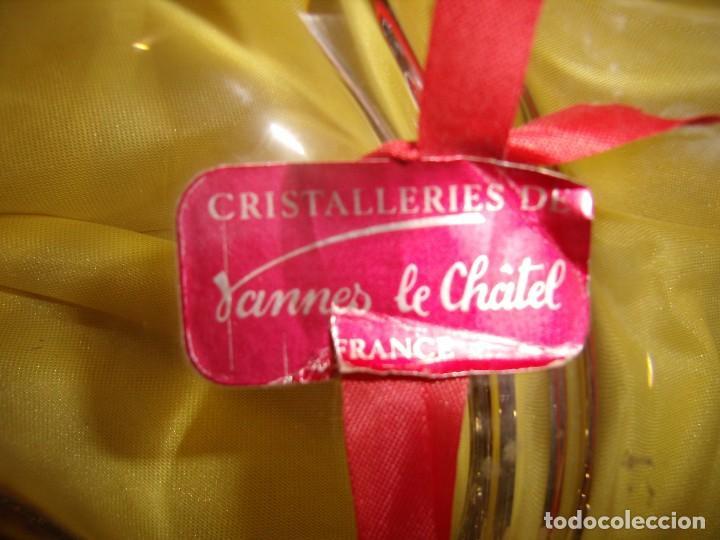Antigüedades: Centro de mesa cristal de 24 % plomo, francés de Vannes Le Chátel, años 70, Nuevo sin usar. - Foto 2 - 103427359