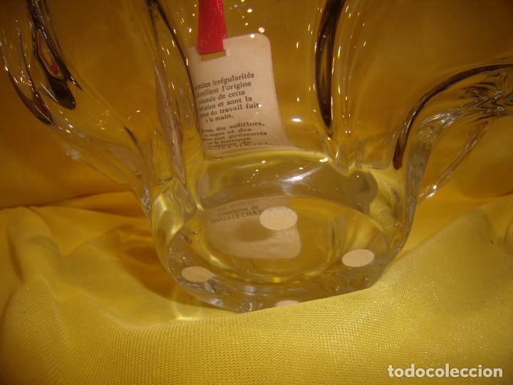 Antigüedades: Centro de mesa cristal de 24 % plomo, francés de Vannes Le Chátel, años 70, Nuevo sin usar. - Foto 6 - 103427359