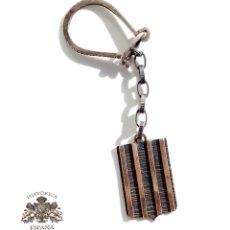 Antigüedades: LLAVERO DE PLATA CON BARRAS DE ORO - PESO 14 GRAMOS . Lote 103442483