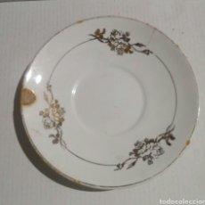 Antigüedades: PLATO CAFE PORCELANA SAN CLAUDIO. Lote 103446787