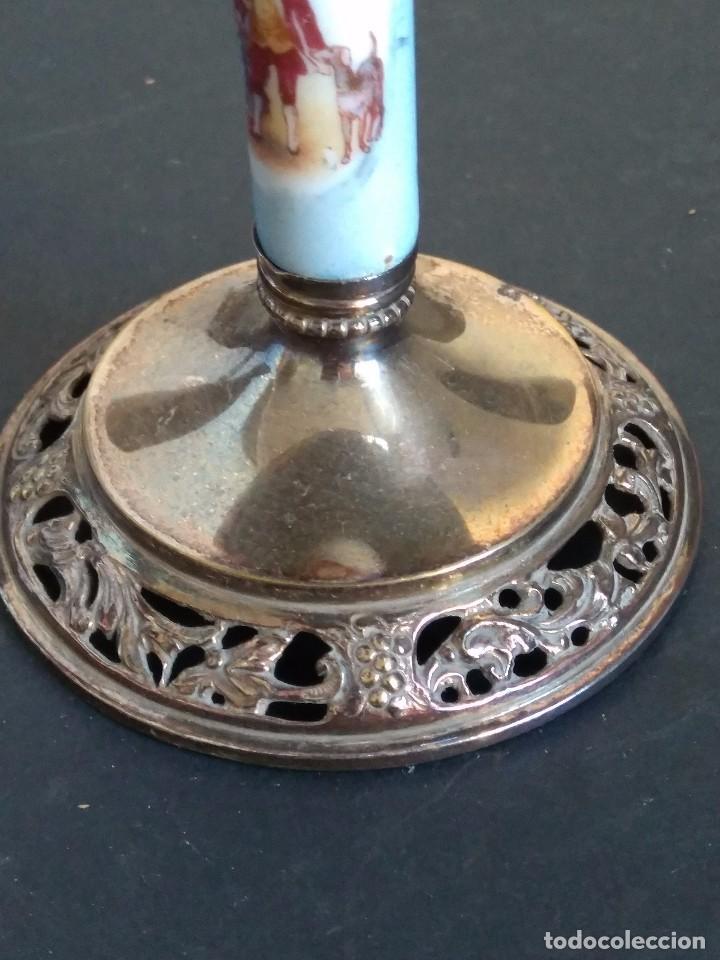 Antigüedades: copas de cava de alpaca - Foto 6 - 103447507