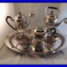 Antigüedades: ANTIGUO JUEGO DE CAFE MAPPIN & WEBB PLATA MACIZA 6 KG. S. XIX. Lote 103449431