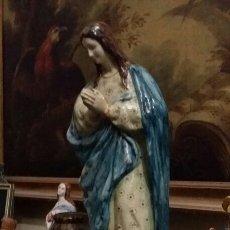 Antigüedades: VIRGEN INMACULADA DE CERÁMICA DE TRIANA MÁS DE 60 CM DE ALTURA. Lote 103458472