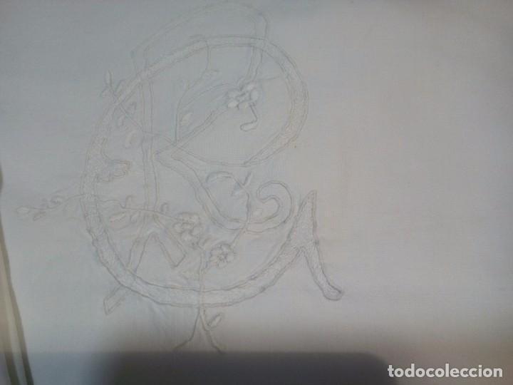 Antigüedades: * ANTIGUA SABANA DE HILO. 2,10M. (Rf:LL34/e) - Foto 2 - 103485271