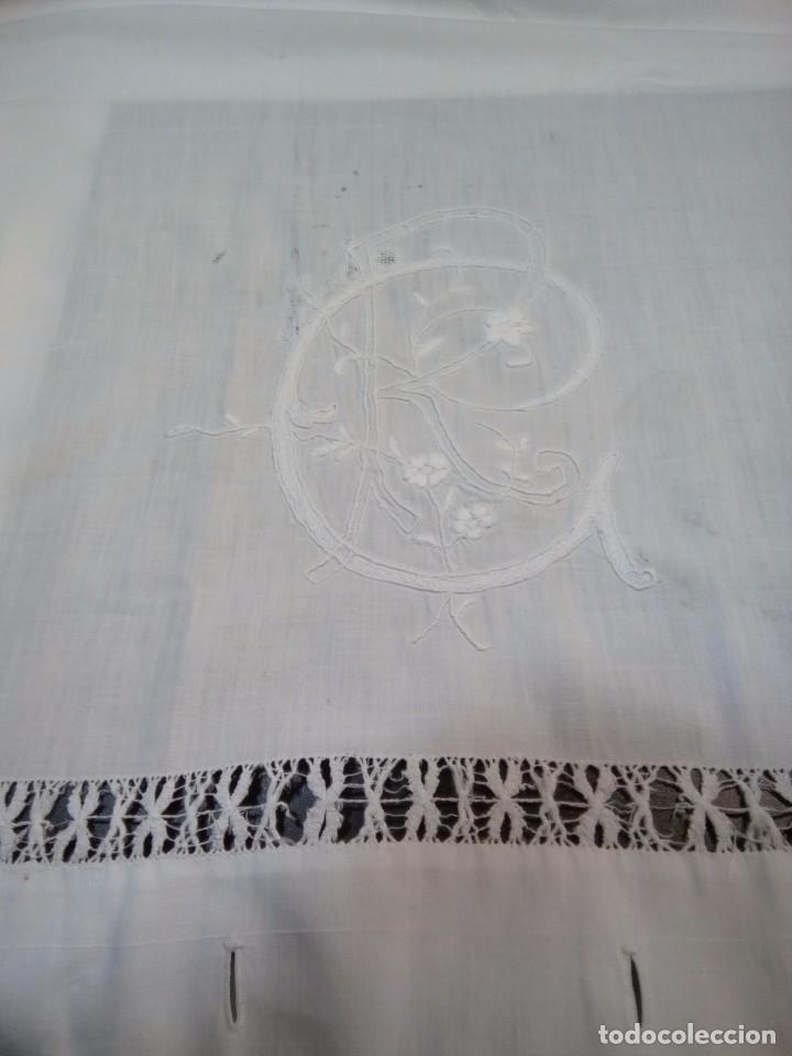 Antigüedades: * ANTIGUA SABANA DE HILO. 2,10M. (Rf:LL34/e) - Foto 6 - 103485271
