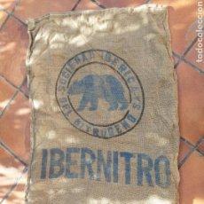 Antigüedades: ANTIGUO SACO DE IBERNITRO DE ARPILLERA. Lote 103492351