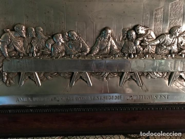 Antigüedades: Cuadro La ultima cena, plateado y antiguo - Foto 9 - 103502786