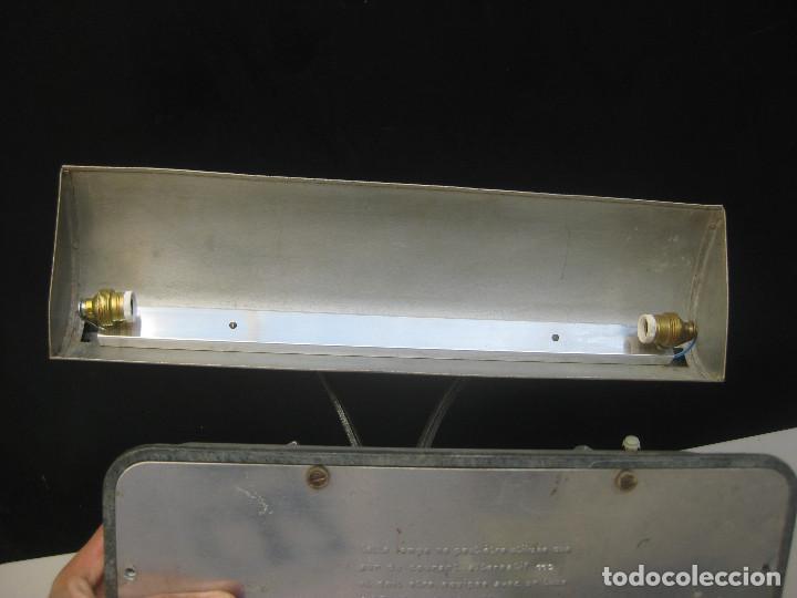Antigüedades: LAMPARA ANTIGUA ESCRITORIO BANQUERO ART NOUVEAU CLAUDE LUMIERE Y OTRA INDUSTRIAL - Foto 8 - 103514551
