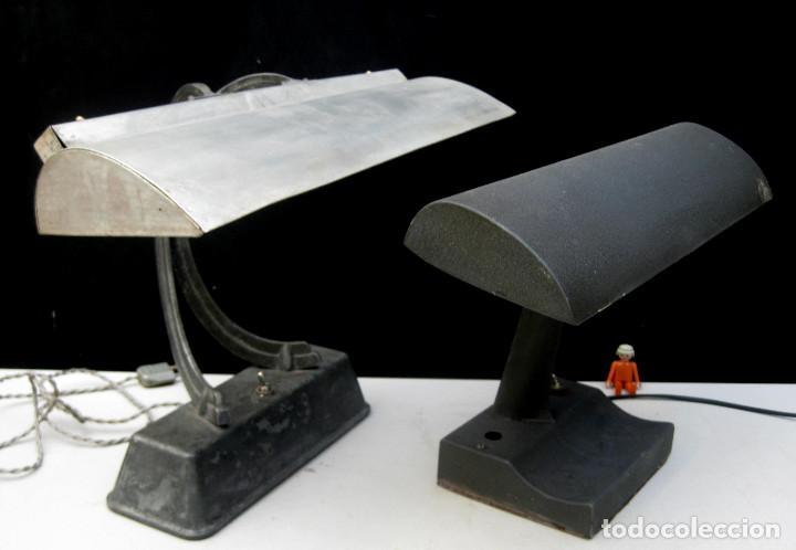 Antigüedades: LAMPARA ANTIGUA ESCRITORIO BANQUERO ART NOUVEAU CLAUDE LUMIERE Y OTRA INDUSTRIAL - Foto 9 - 103514551