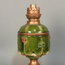 Antigüedades: ART NOUVEAU . ANTIGUO QUINQUE DE CÉRAMICA DE PETROLEO. 1900 - 1910 (BRD). Lote 103538303