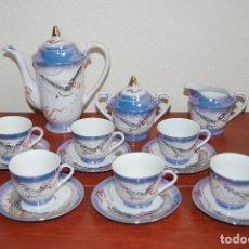 Antigüedades: JUEGO DE CAFÉ DE 6 SERVICIOS - TÉ - JAPÓN - SATSUMA - DRAGÓN - GEISHA - AÑOS 60. Lote 103565323
