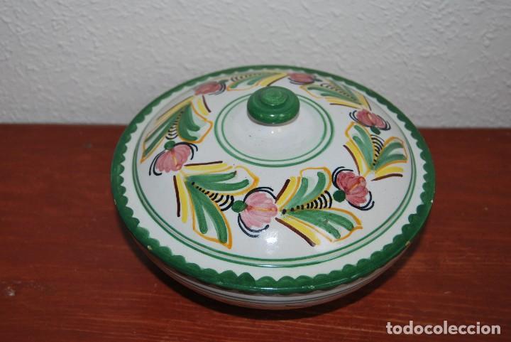 Antigüedades: LEGUMBRERA DE CERÁMICA DE PUENTE DEL ARZOBISPO - RECIPIENTE CON TAPA - MEDIADOS SIGLO XX - Foto 2 - 103565551