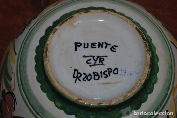 Antigüedades: LEGUMBRERA DE CERÁMICA DE PUENTE DEL ARZOBISPO - RECIPIENTE CON TAPA - MEDIADOS SIGLO XX - Foto 7 - 103565551
