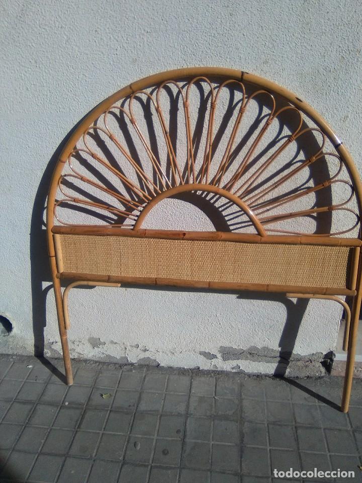 CABECERO DE CAMA DE BAMBÚ. (Antigüedades - Muebles Antiguos - Camas Antiguas)