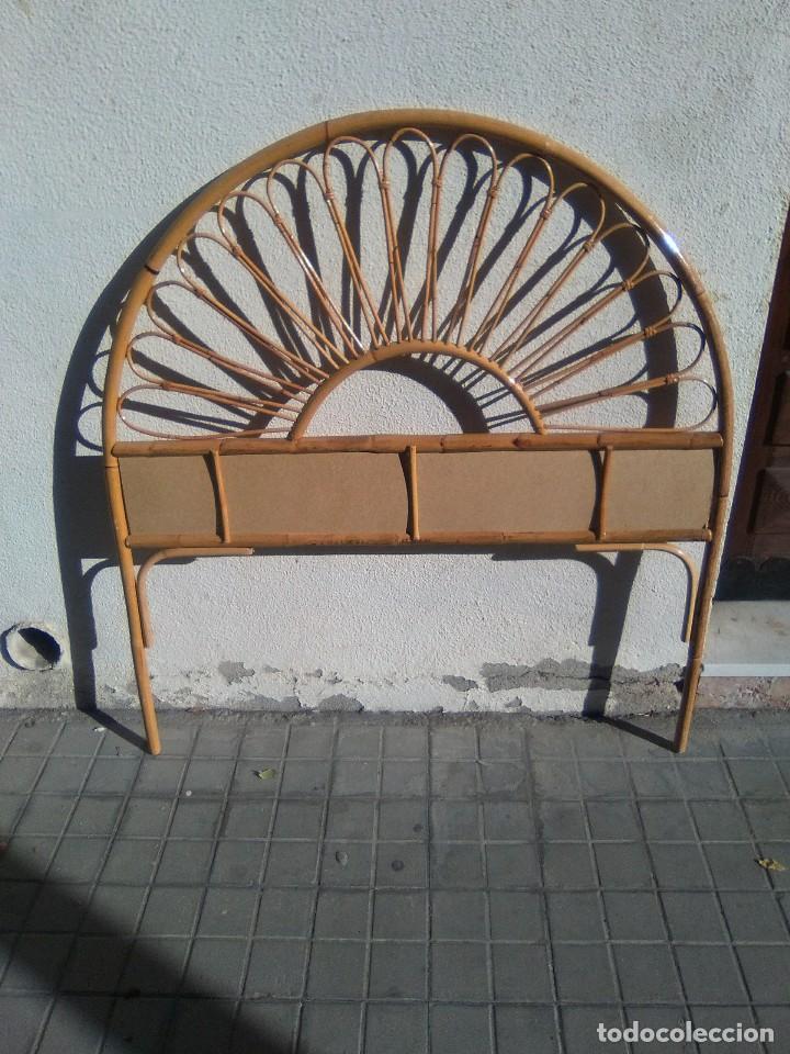 Antigüedades: Cabecero de cama de bambú. - Foto 2 - 103566899