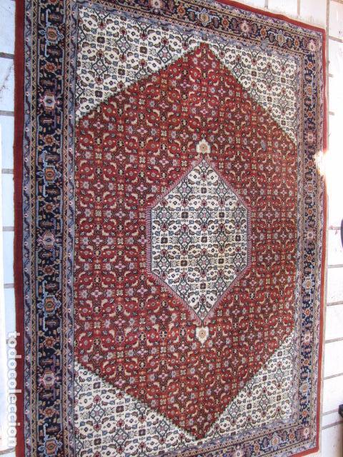 Antigüedades: Antigua y gran alfombra persa. Pura lana anudada a mano - Foto 2 - 103583707